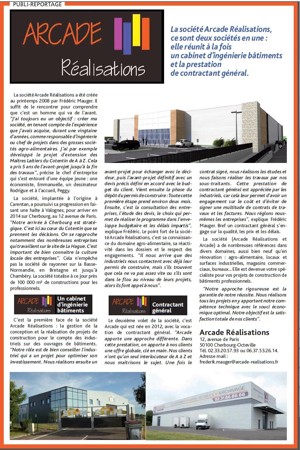 Article de presse arcade r alisations - Bureau de change cherbourg ...