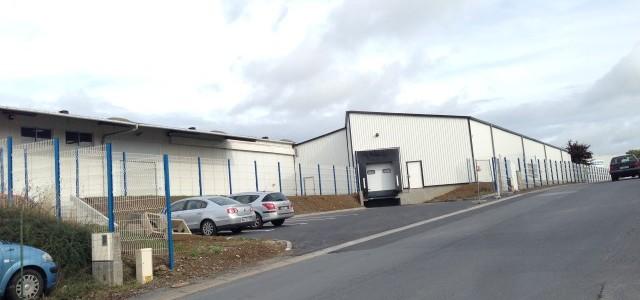 Extension d'un entrepôt de stockage TRICOPACK en charpente métallique