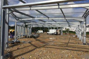 AVANCEMENT CHANTIER : CONSTRUCTION D'UN BATIMENT DE BUREAUX ET ATELIER (50)