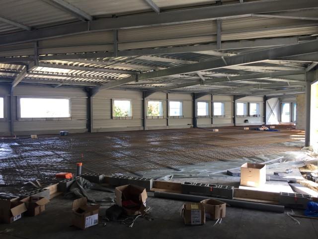 Avancement chantier construction d 39 un batiment de bureaux et atelier 50 - Bureau de change cherbourg ...